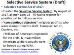 selective service system draft