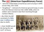 the aef american expeditionary force