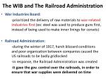 the wib and the railroad administration