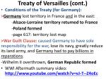 treaty of versailles cont