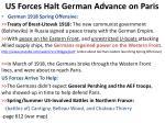 us forces halt g erman advance on paris