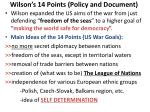 wilson s 14 points policy and document