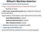 wilson s wartime america