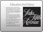education and salary