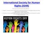 international society for human rights ishr