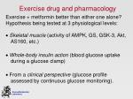 exercise drug and pharmacology
