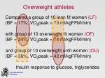 overweight athletes