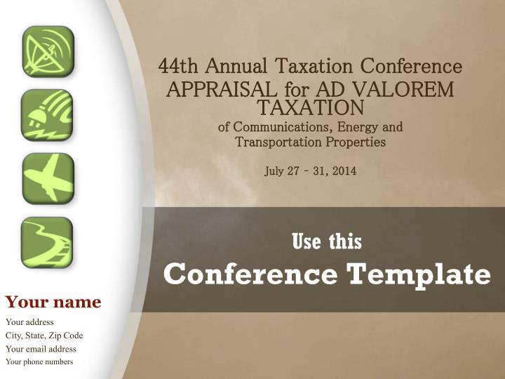 use this conference template n.