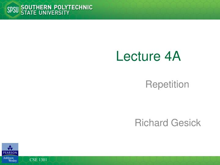 lecture 4a n.