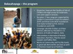 balasahayoga the program