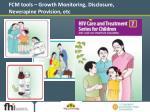 fcm tools growth monitoring disclosure neverapine provision etc