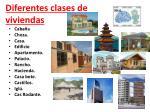 diferentes clases de viviendas