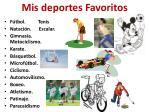 mis deportes favoritos