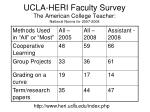 ucla heri faculty survey the american college teacher national norms for 2007 2008