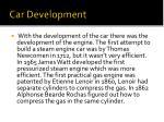 car development