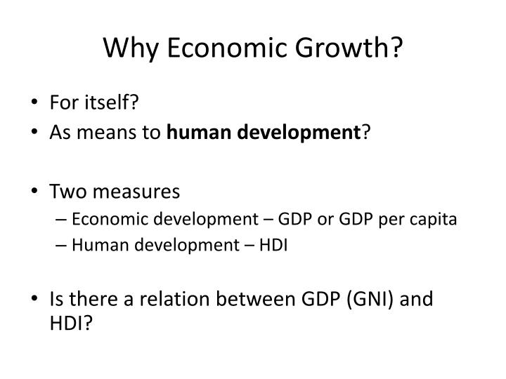 Why economic growth