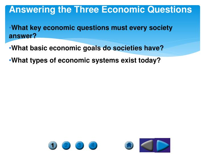 answering the three economic questions n.