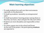 main learning objectives