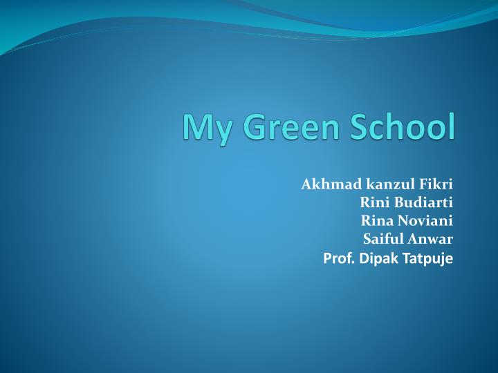 my green school n.