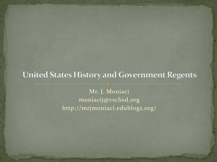 united states history and government regents n.