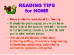 reading tips for home