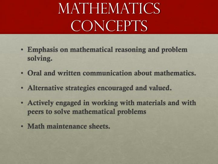 mathematics concepts