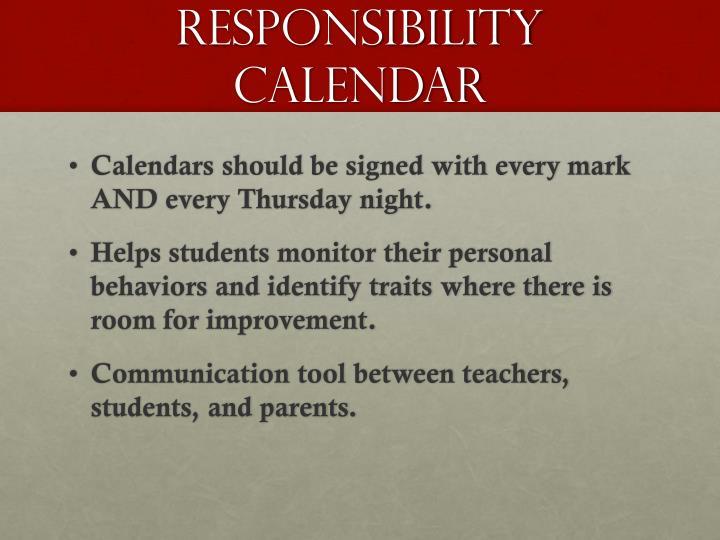 responsibility calendar