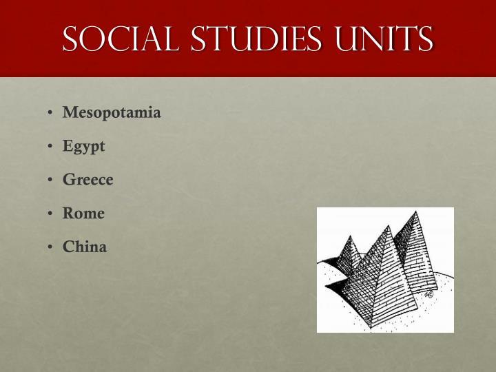 social studies units