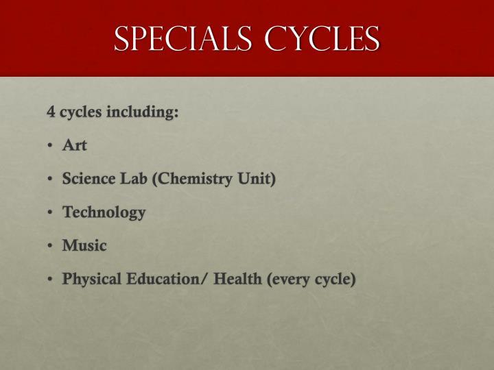 Specials cycles