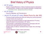 brief history of physics1