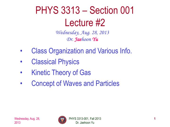 phys 3313 section 001 lecture 2 n.