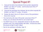special project 1