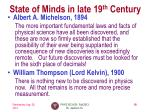 state of minds in late 19 th century