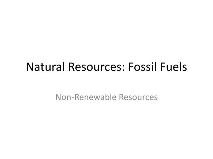 natural resources fossil fuels n.