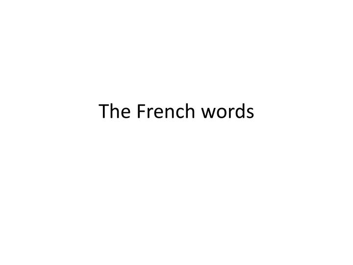the french words n.