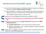 risk sharing finance facility rsff geneza