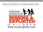missing children code adam alert1