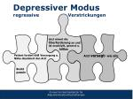depressiver modus regressive verstrickungen