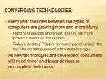 converging technologies
