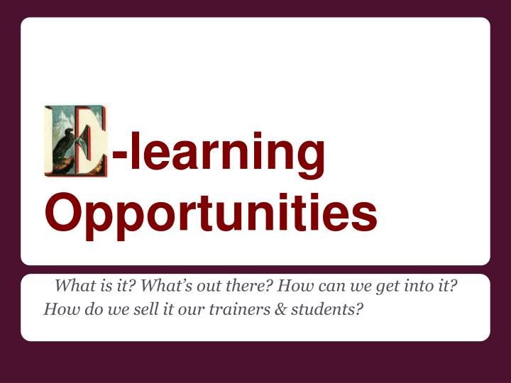 learning opportunities n.