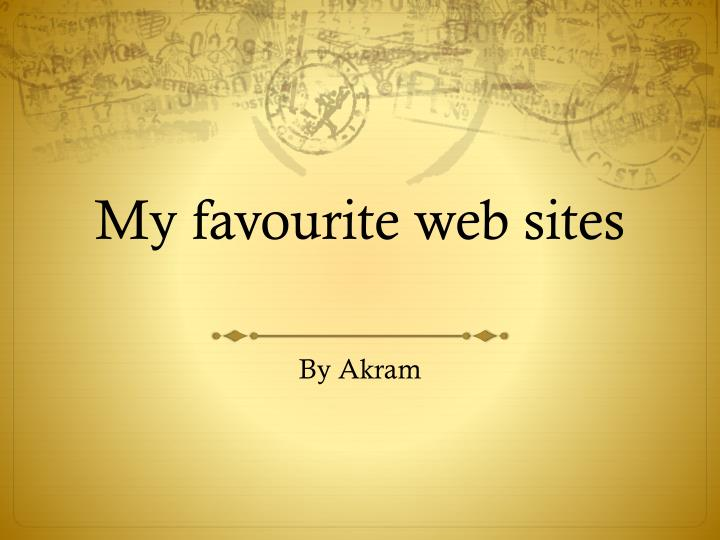 my favourite web sites n.