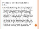 summary of brainpop main idea