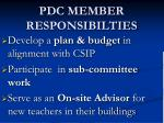 pdc member responsibilties