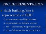 pdc representation