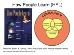 how people learn hpl