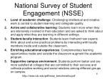 national survey of student engagement nsse