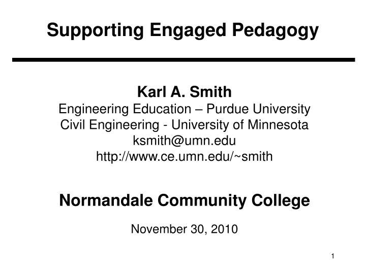 supporting engaged pedagogy n.