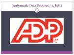 automatic data processing inc