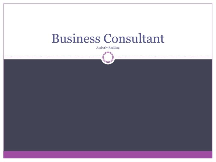 business consultant amberly redding n.