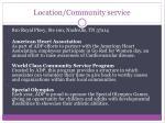 location community service